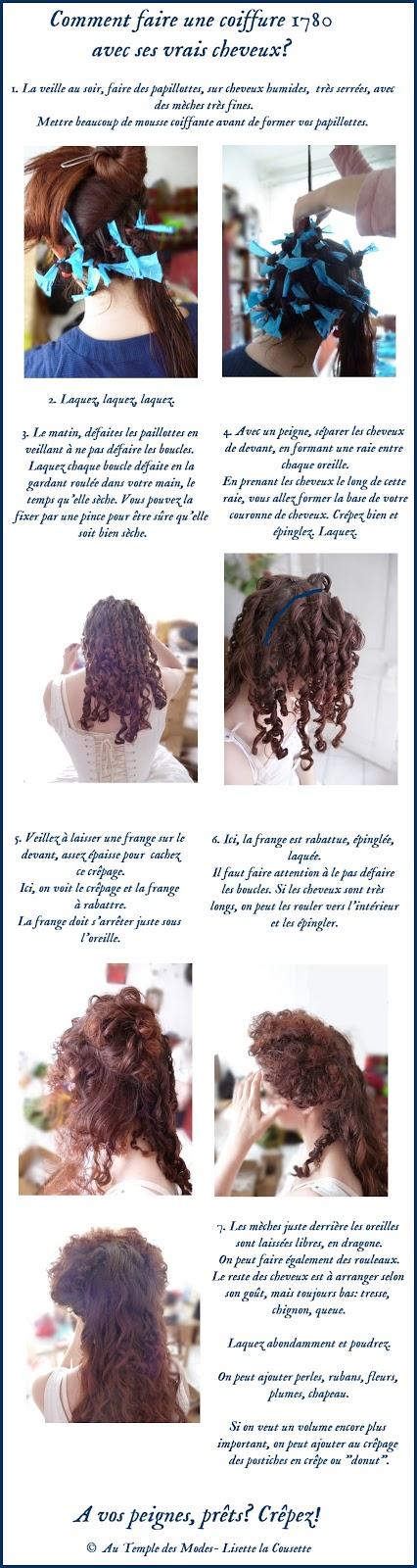 au temple des modes comment faire une coiffure 1780 avec. Black Bedroom Furniture Sets. Home Design Ideas
