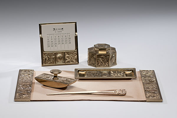 An early 20th century desk set by Tiffany & Co. - Parvum Opus: Anatomy Of A Well-Dressed Desk, Part 1: The Desk Blotter