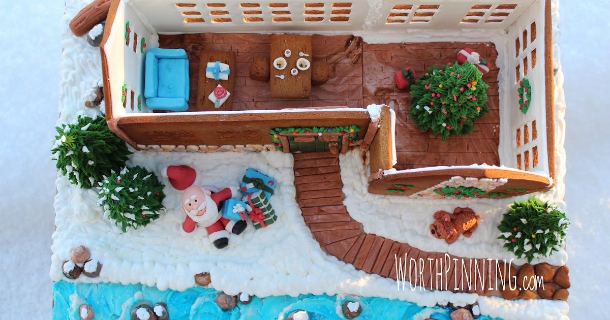 Hand Painted Gingerbread House