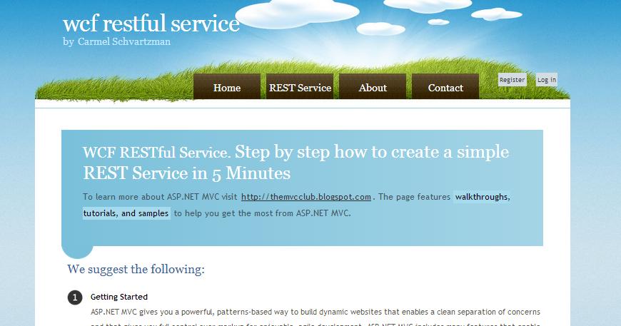 how to create asp net mvc application