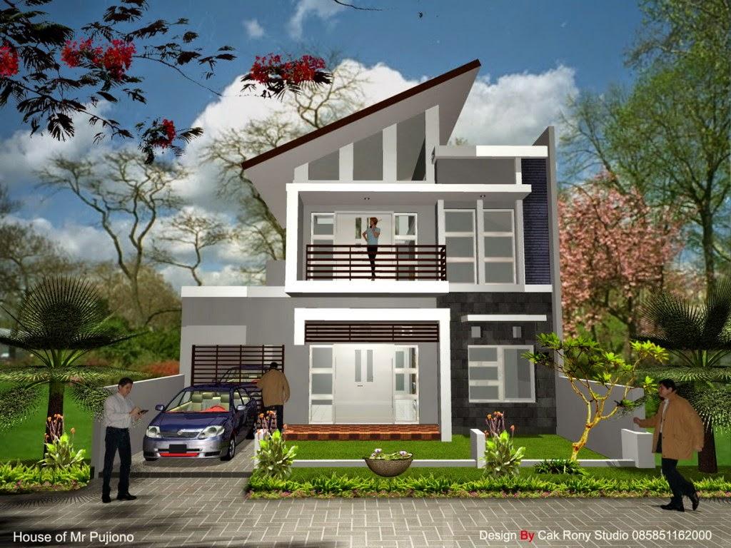 Gambar Desain Rumah Mewah Minimalis 2 Lantai Type 60 dan 70
