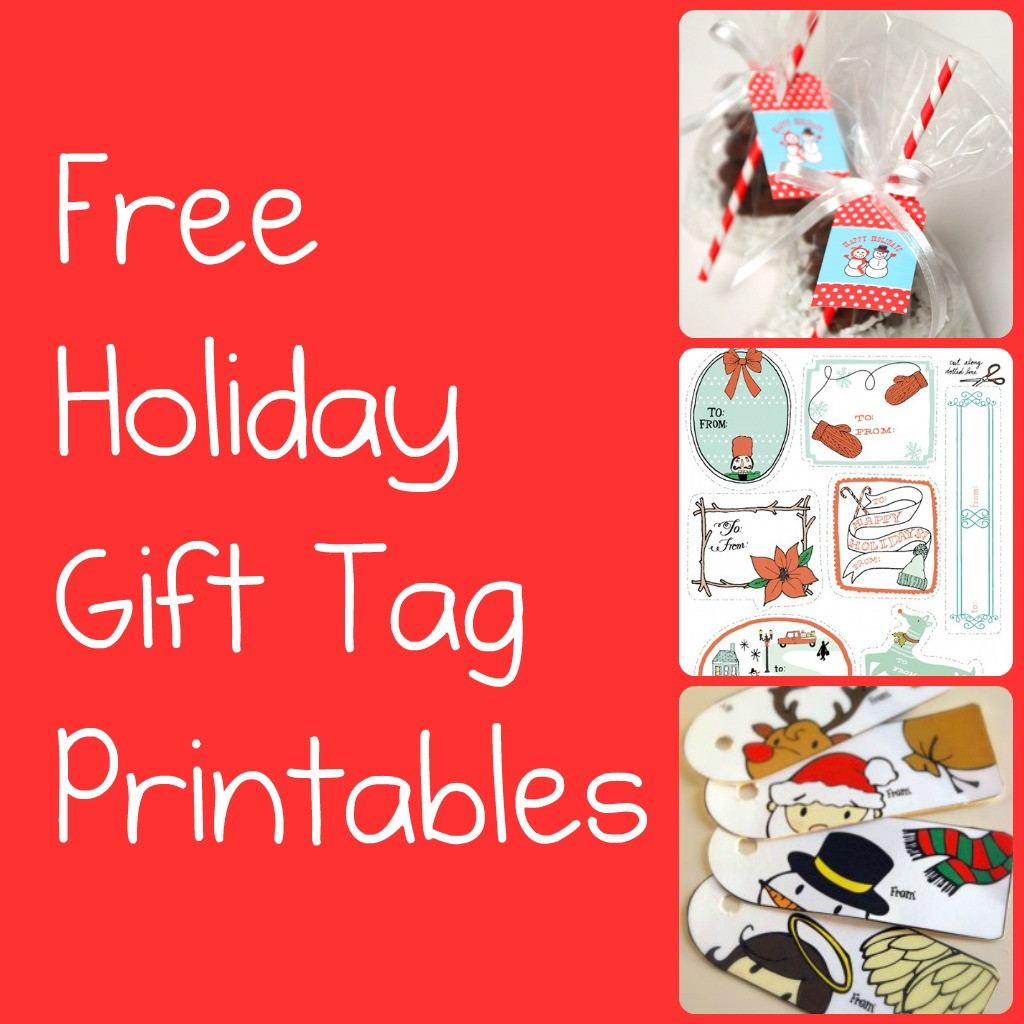 free christmas gift tag pictures