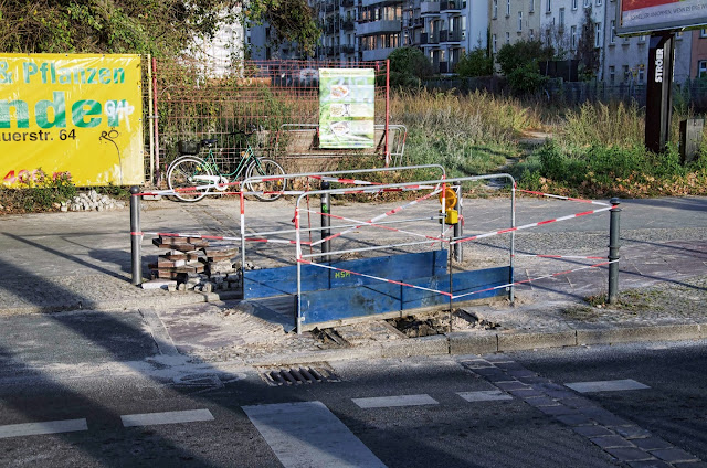 Baustelle Straßenbauarbeiten, Brunnenstraße / Bernauer Straße, 10115 Berlin, 31.10.2013