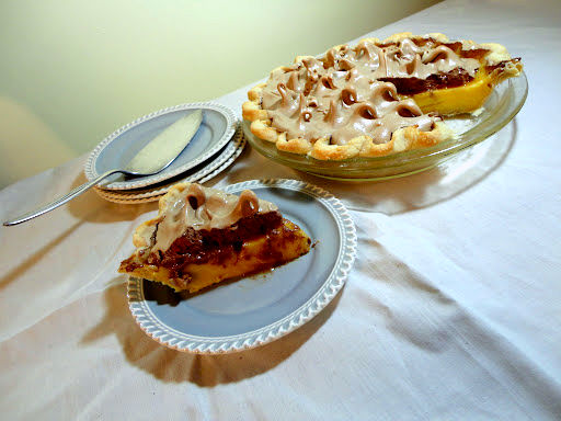 ... : Wholesome Wednesday: Orange Cream Pie with Chocolate Meringue