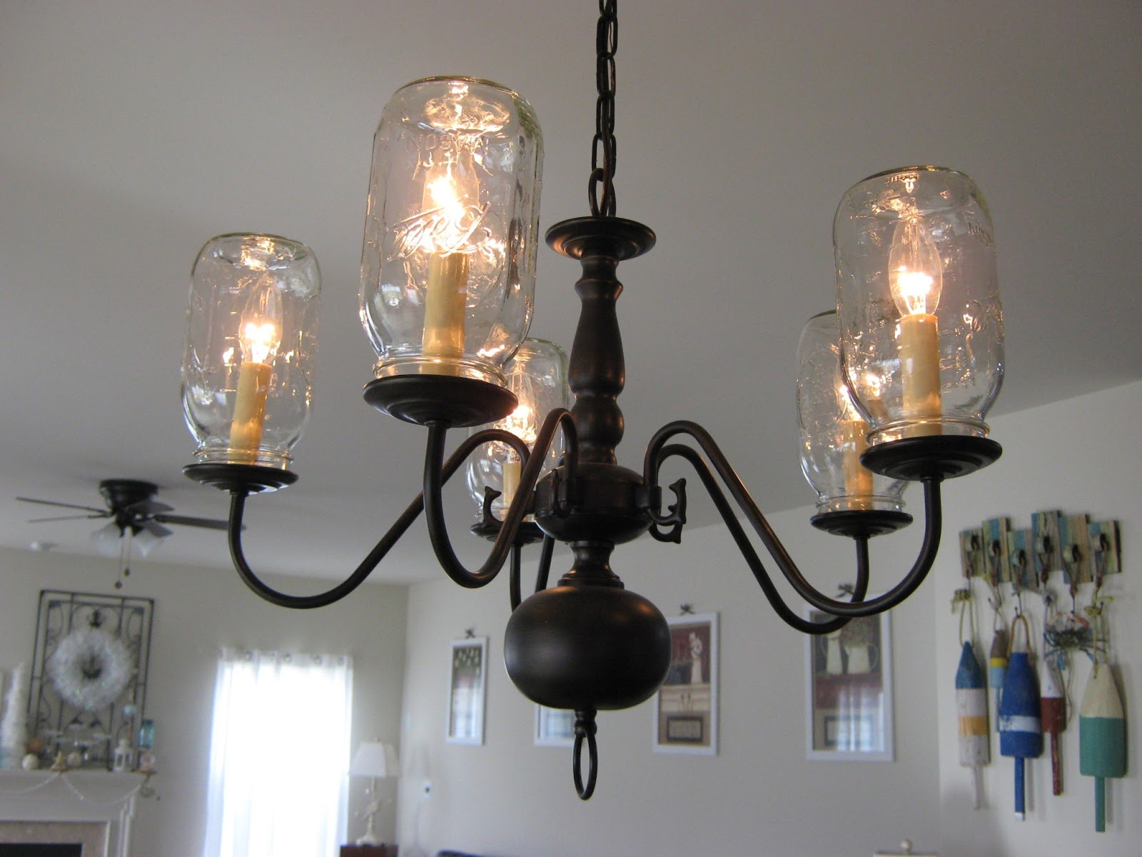 Fake It Frugal Fake Pottery Barn Mason Jar Chandelier