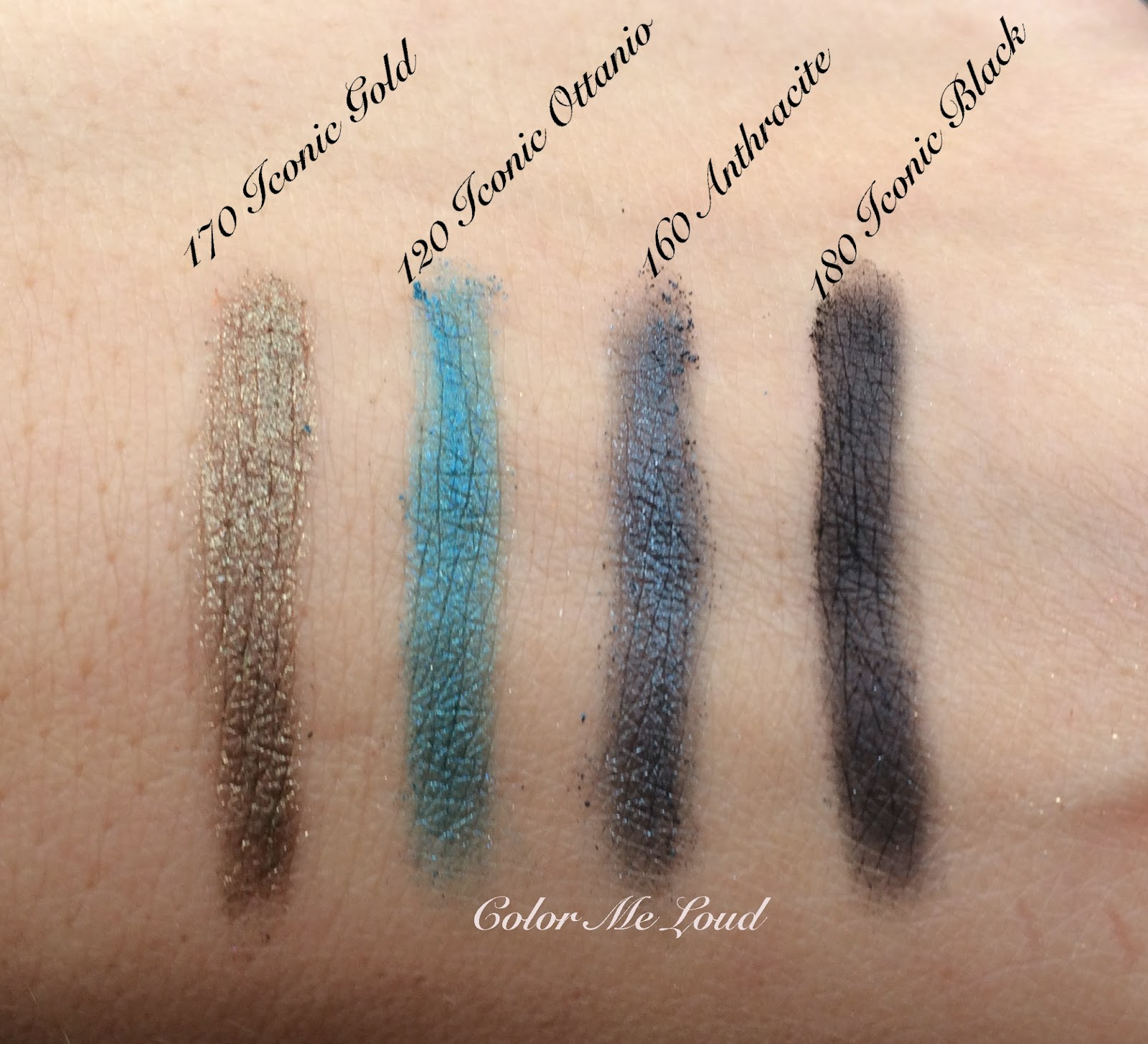 Swatches of Gucci Magnetic Color Shadow Monos