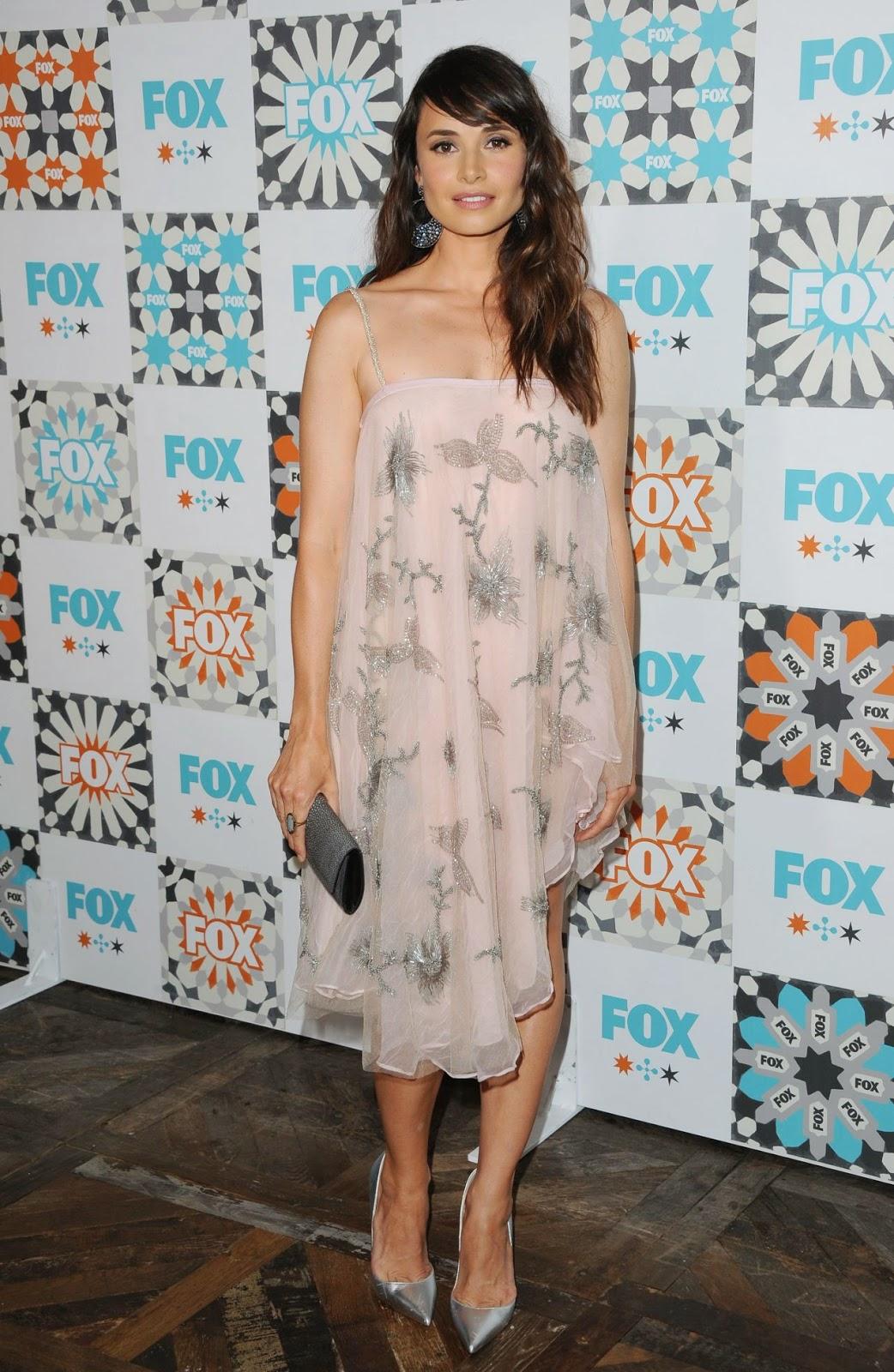 Mia Maestro is beautiful in Emporio Armani at the 2014 Fox Summer TCA ALL Star Party