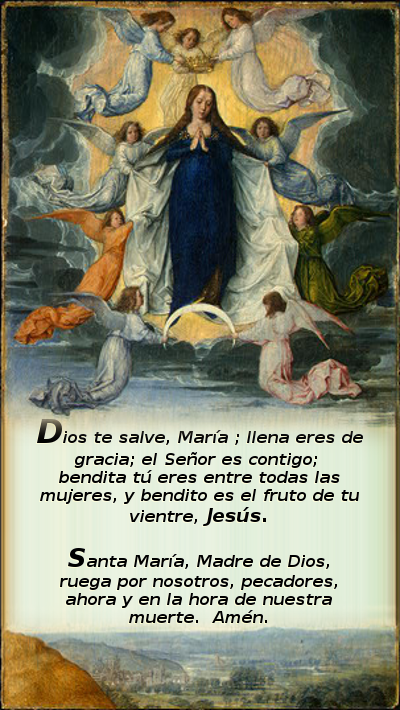 angeles coronando a la virgen madre de dios