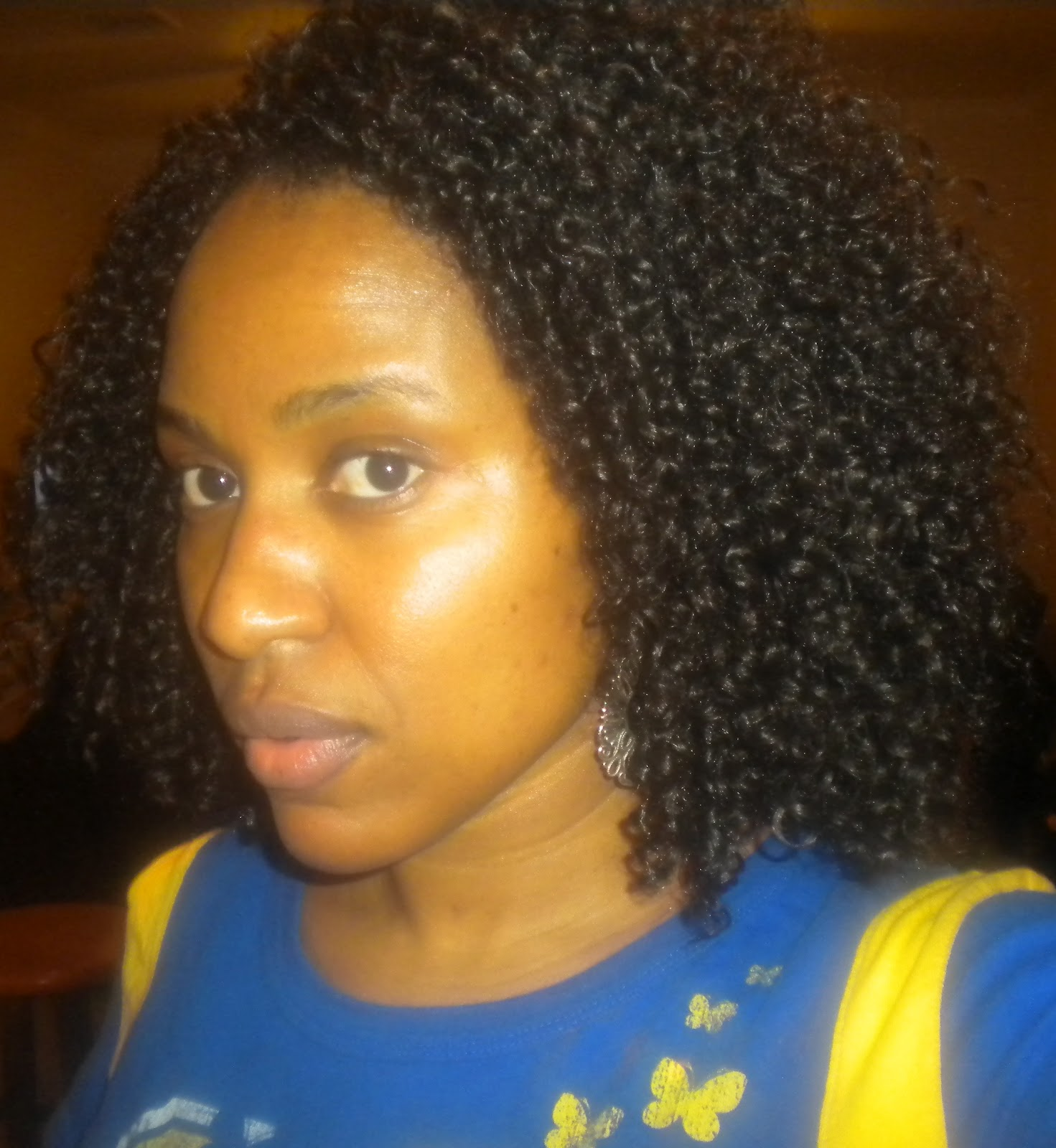 pinned my braids upward and crocheted my curly synthetic braiding hair ...