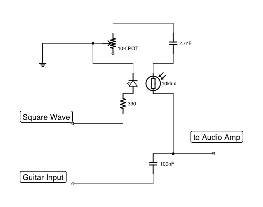 Shadi Soundation: Guitar Tremolo effect using LED, LDR and any ...