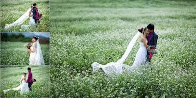 Trong số những địa điểm chụp ảnh cưới đẹp nổi tiếng ở miền Bắc không thể bỏ qua Mai Châu