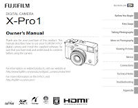 Manuale d'uso della Fuji X-Pro1