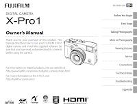 Manuale d'uso della Fuji X-Pro1