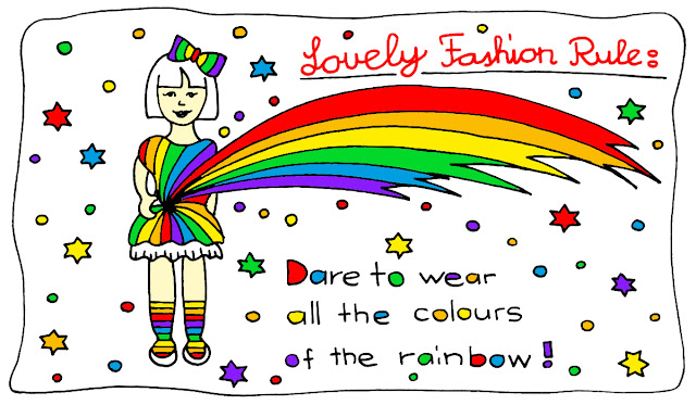 fashion rule, colours, rainbow