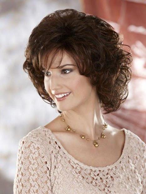 medium length curly hairstyles