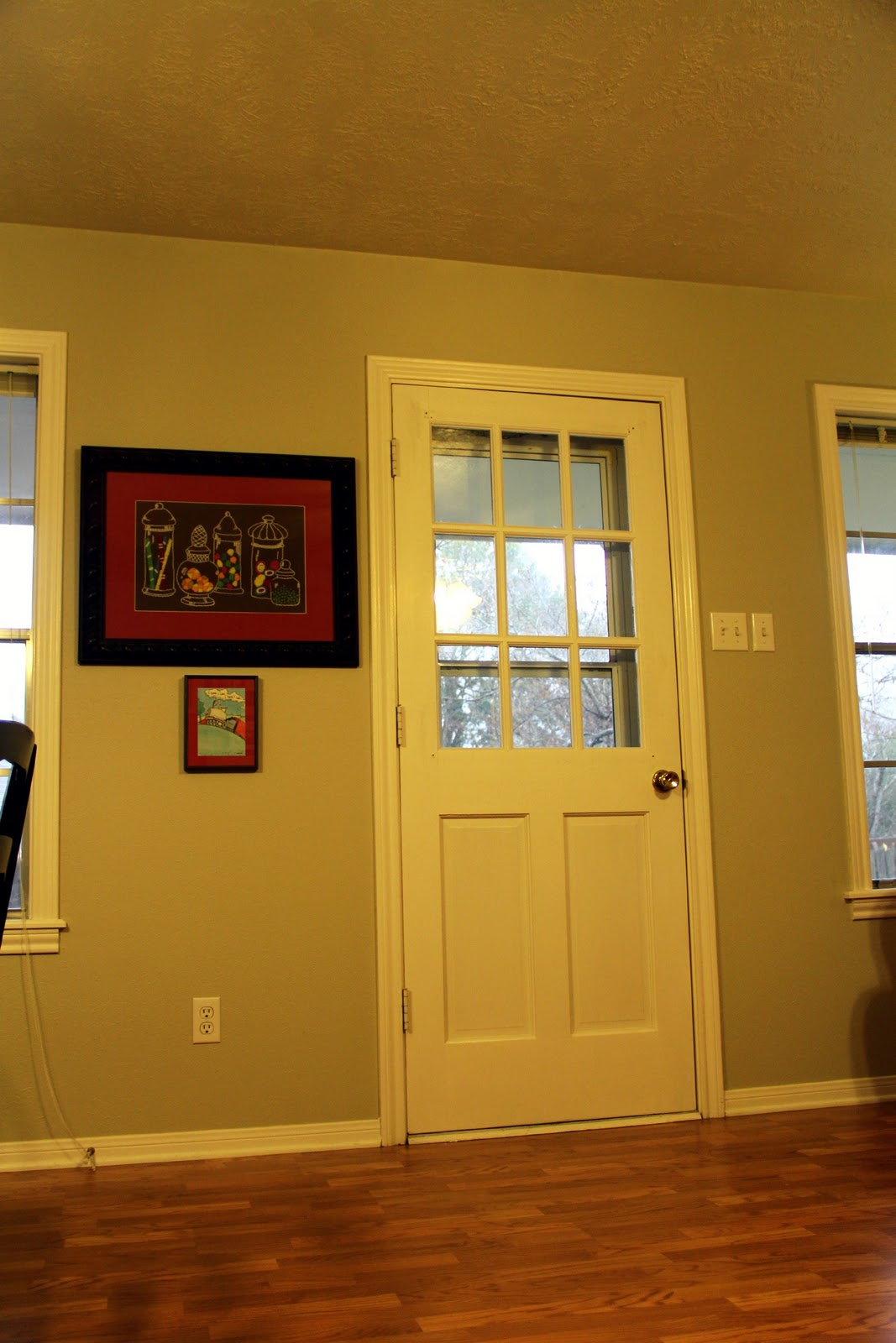 Imperfect Treasures: New Wall Art in the Family Room