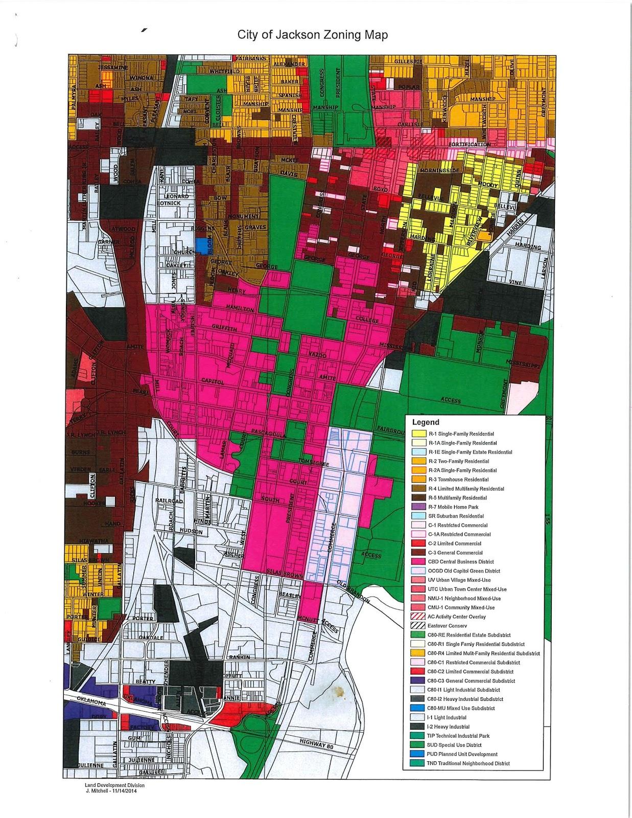 City Of Jackson Mississippi Zoning Map