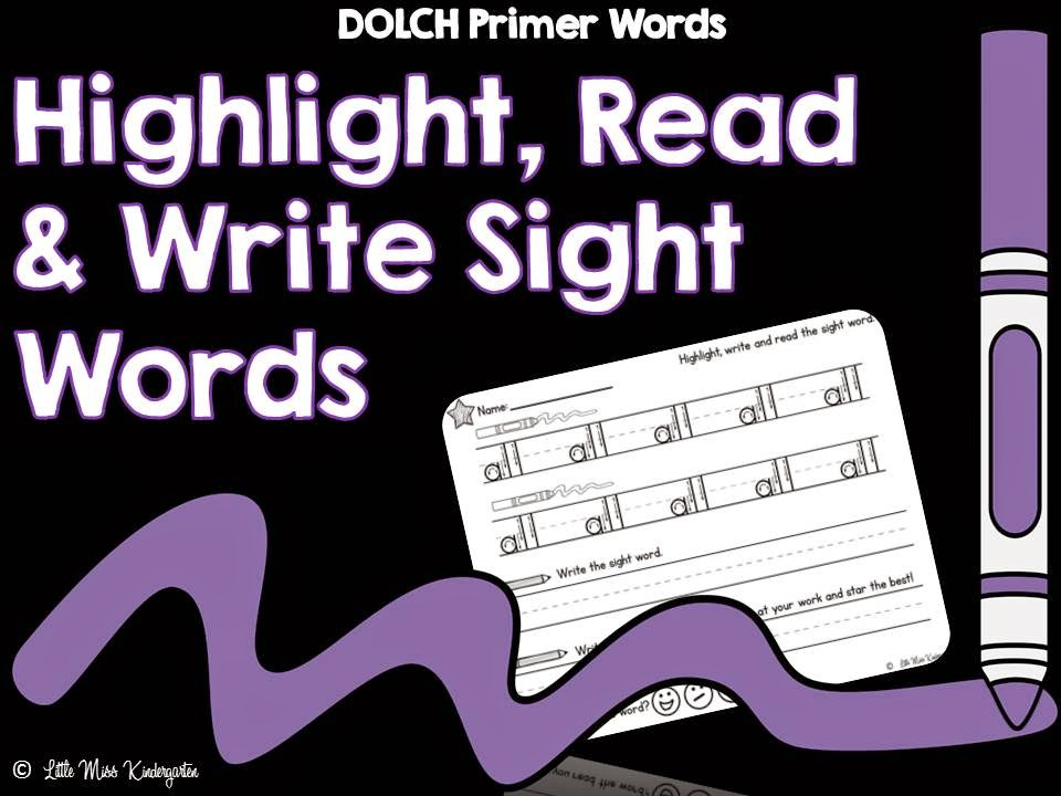 http://www.teacherspayteachers.com/Product/Highlight-Read-and-Write-Sight-Words-DOLCH-Primer-1389149