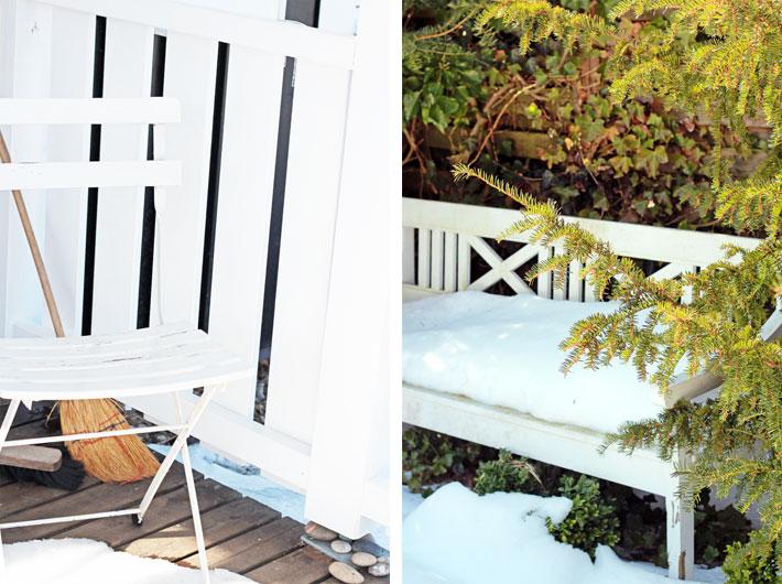 Amalie loves Denmark Schnee im Garten