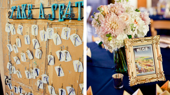 Vintage Navy & Blush Pink Estate Wedding