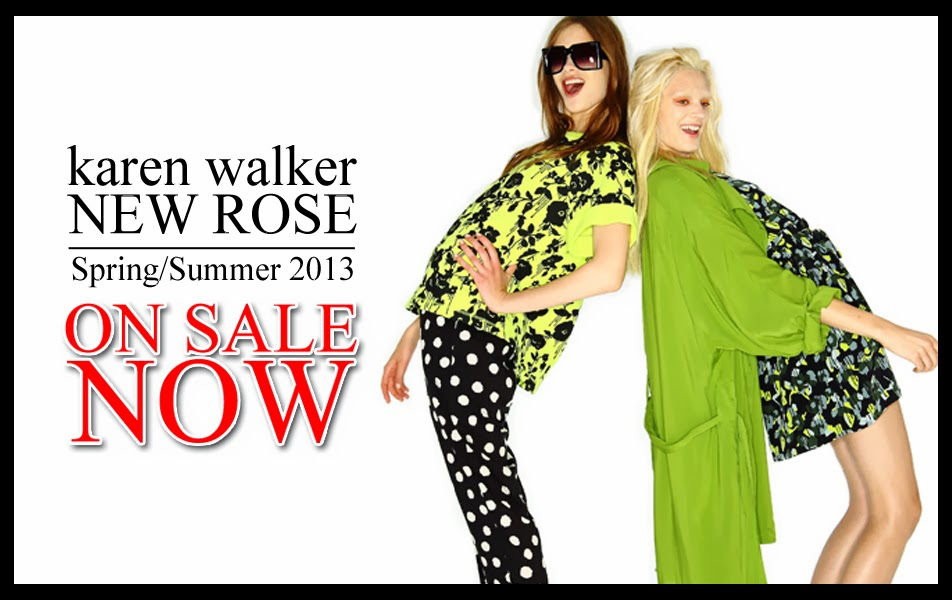 "KAREN WALKER ""NEW ROSE"" NOW ON SALE!"