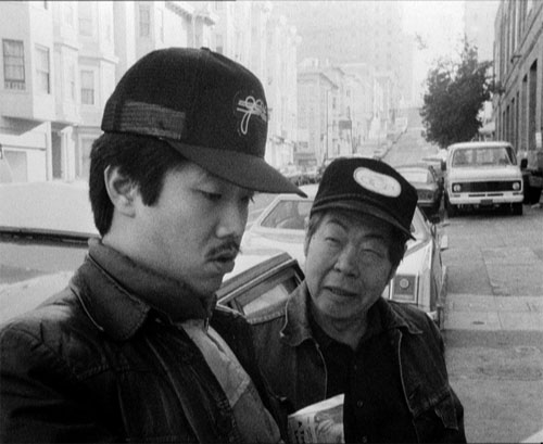 Marc Hayashi, left, and Wood Moy, right, in a San Francisco movie that cost 10,000 times less than David Caruso's Jade and is 10,000 times more fucking entertaining.