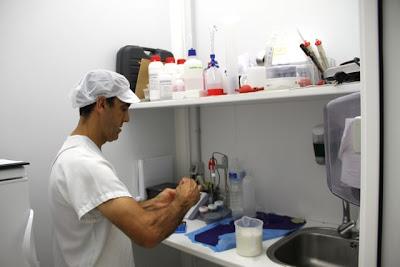Preparando los fermentos en la Quesería El Bucarito. Blog Esteban Capdevila