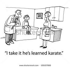 Doctor say it is a karate Kid
