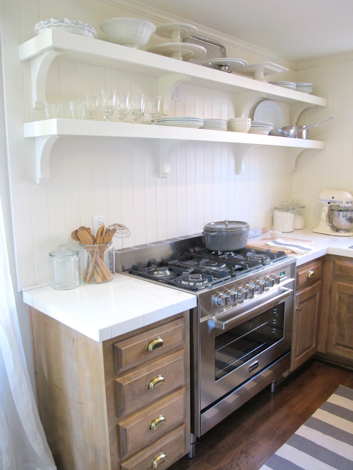 Jenny Steffens Hobick: DIY Kitchen Remodel | $40 Subway Tile Counter ...