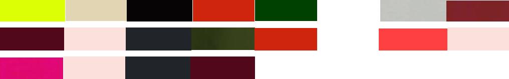 combinación de colores neutros o muy claros con otros colores intensos
