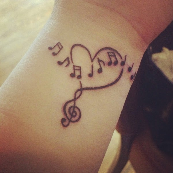 Colorful Music Note Tattoos Star Music Note Tattoo