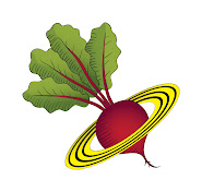 This web site is brought to you by Planet Whizbang. Click the beet...
