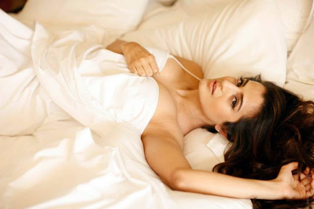 amisha patel | wrapped her inside the bedsheet cute stills