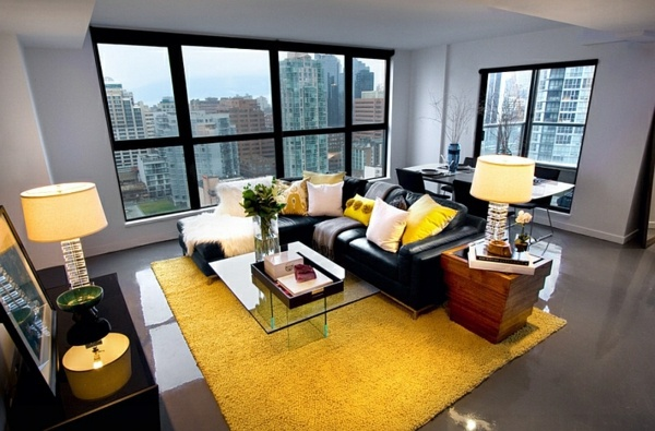 There Are Plenty Of Ways In Which One Can Adopt The Gray And Yellow Color Scheme Living Room Without Getting Permanently Stuck With It
