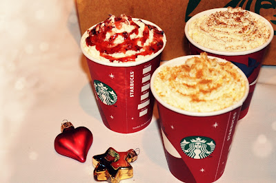 Starbucks Christmas: Gingerbread Latte, Cranberry White Mocca & Toffee Nut Latte