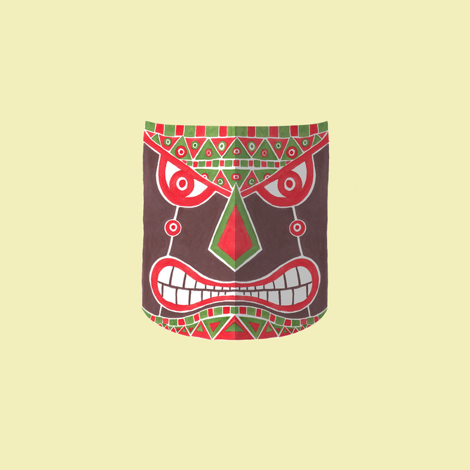 The Polynesian Mask Illustration Printed on Merchandise Illustration by Haidi Shabrina