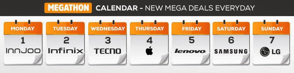 Jumia Mobile Week Megathon Calendar