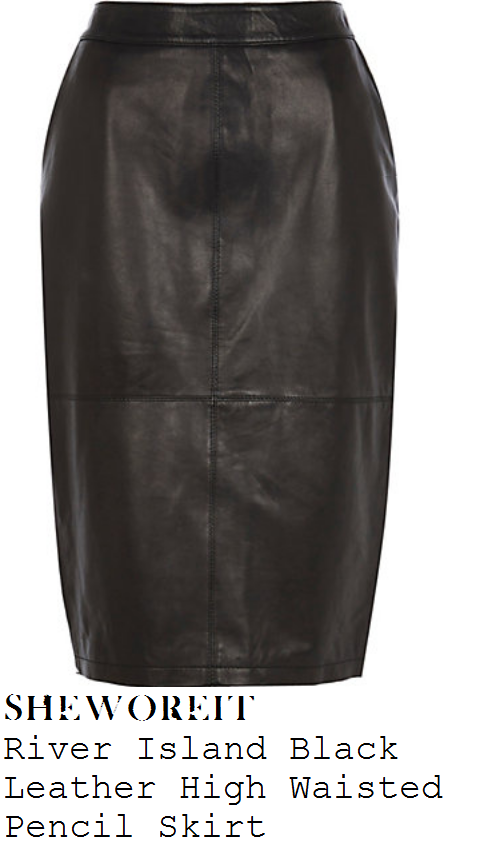 jesy-nelson-little-mix-black-high-waisted-leather-pencil-skirt
