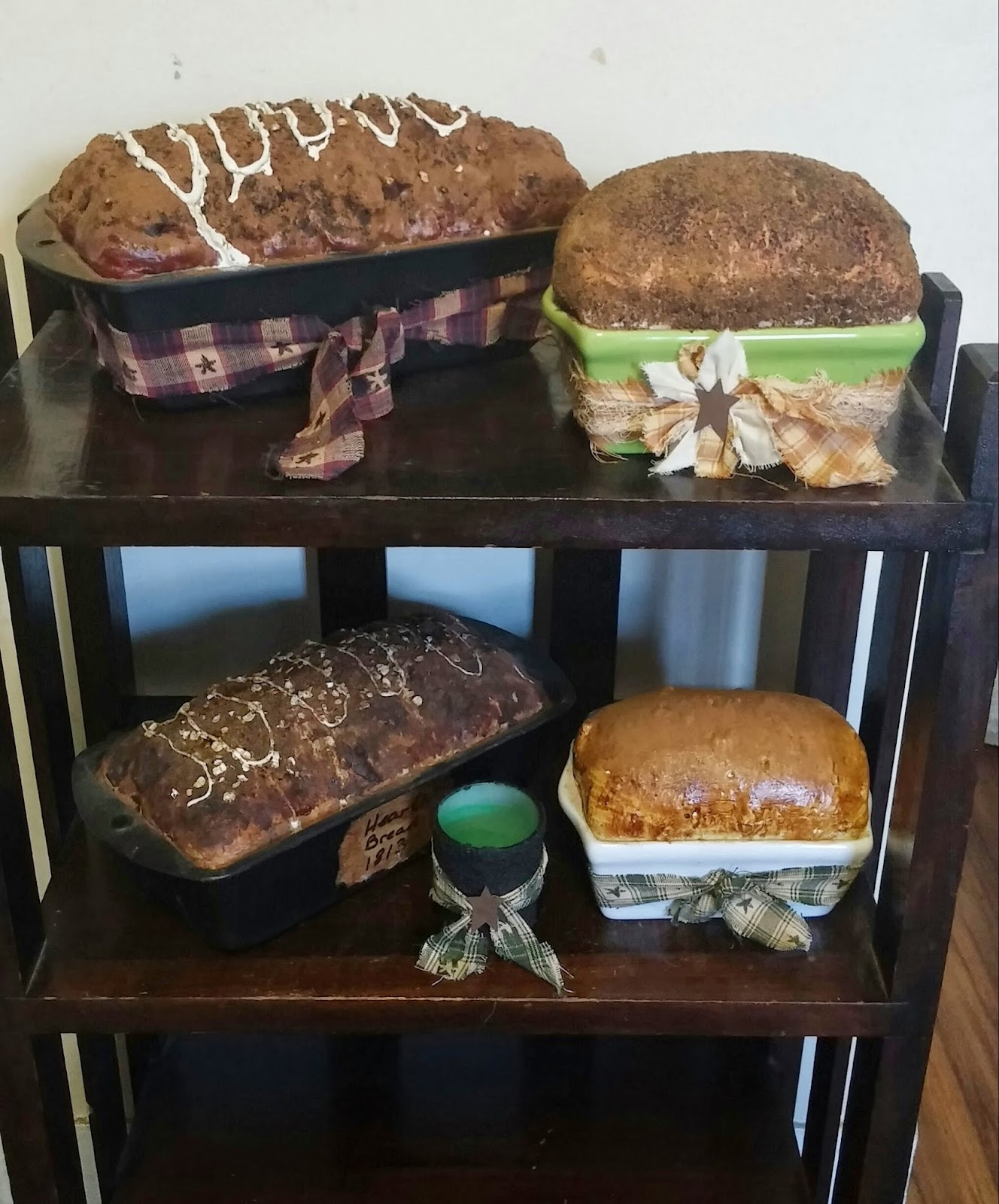 faux bread, spray foam, primitive bread
