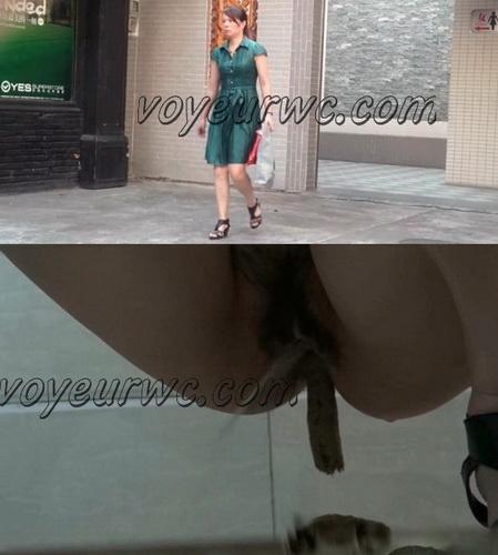 China Voyeur Shit Toilet SpyCam 12. Beautiful girls shitting. (Chinavoyeur 241-302)