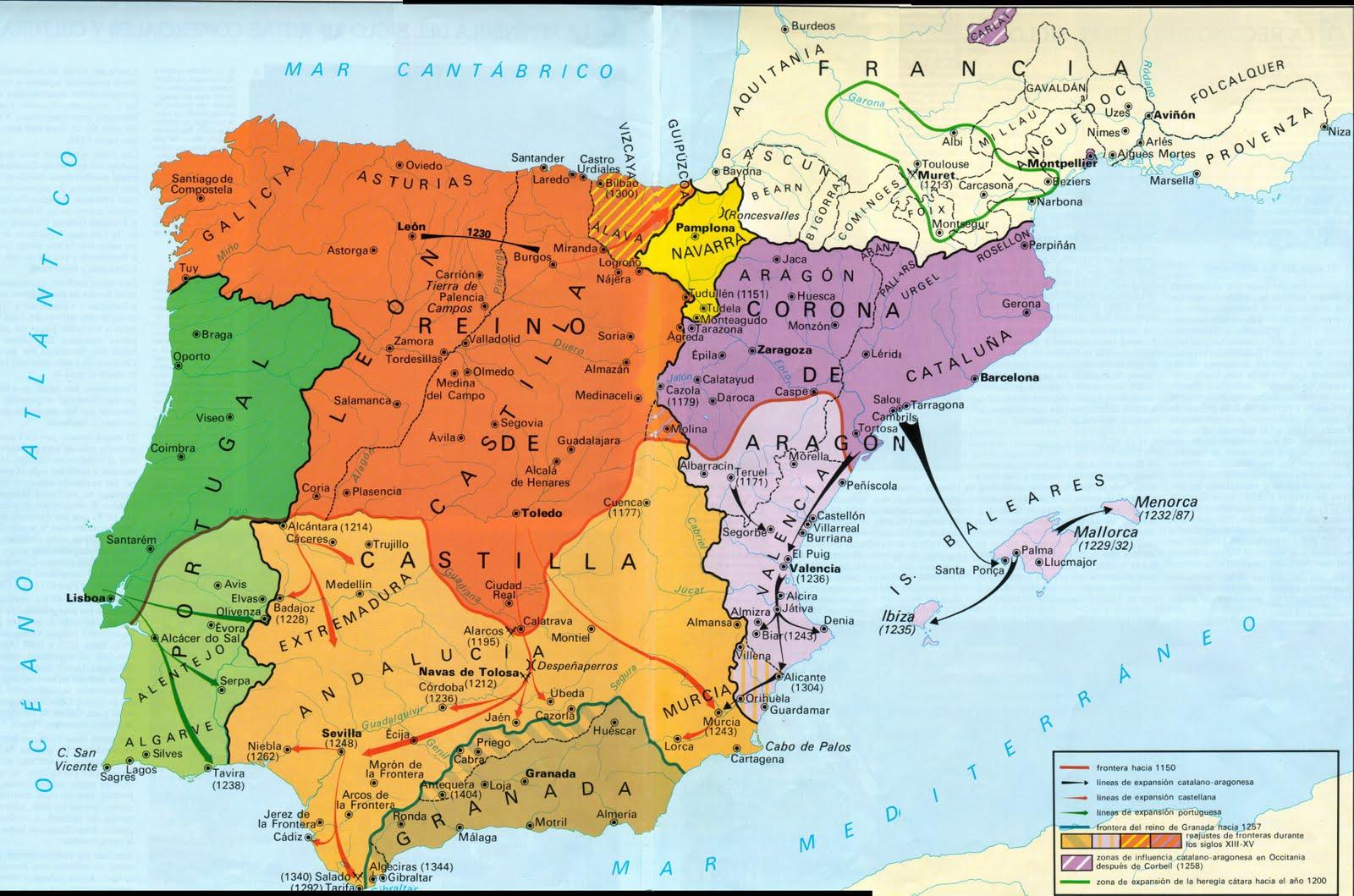 Blog de historia mapa reinos cristianos musulmanes alta for De donde sacan el marmol