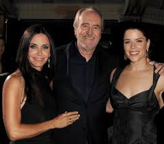 Wes Craven with Neve Campbell and Courtney Cox