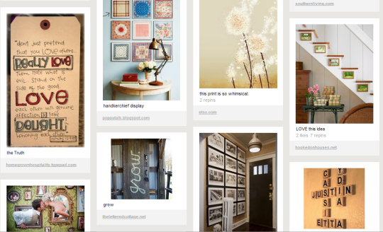 "DIY Inspiration"" board - pinning all the items I'd like to DIY someday"