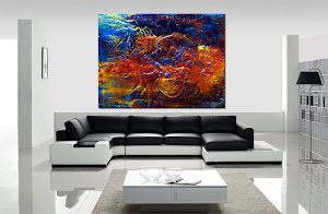"Abstract Painting ""Adventure"" by Dora Woodrum"