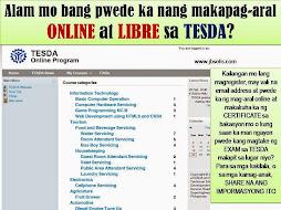 FREE ONLINE STUDY at TESDA