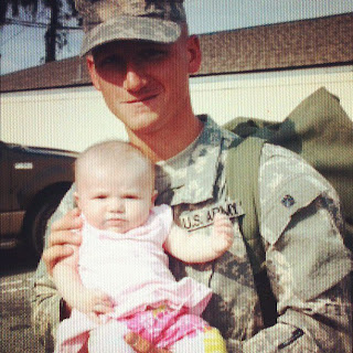 Daddy and Maddie after Darby Phase of Ranger School
