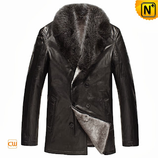 Sheepskin Leather Fur Coat