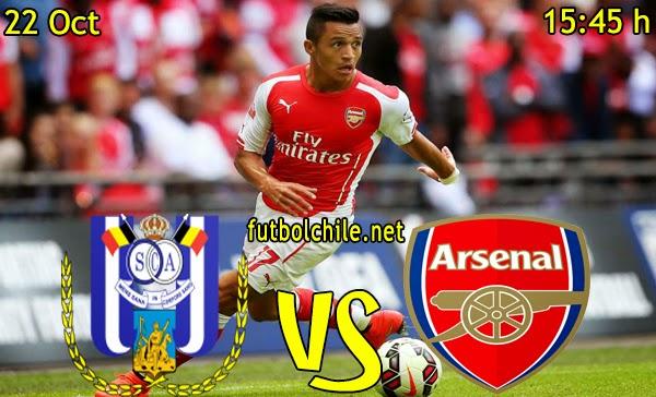 Anderlecht vs Arsenal - Champions League - 15:45 h - 22/10/2014