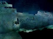 Os Orifícios ao lado da proa do navio, deixado pelo iceberg.
