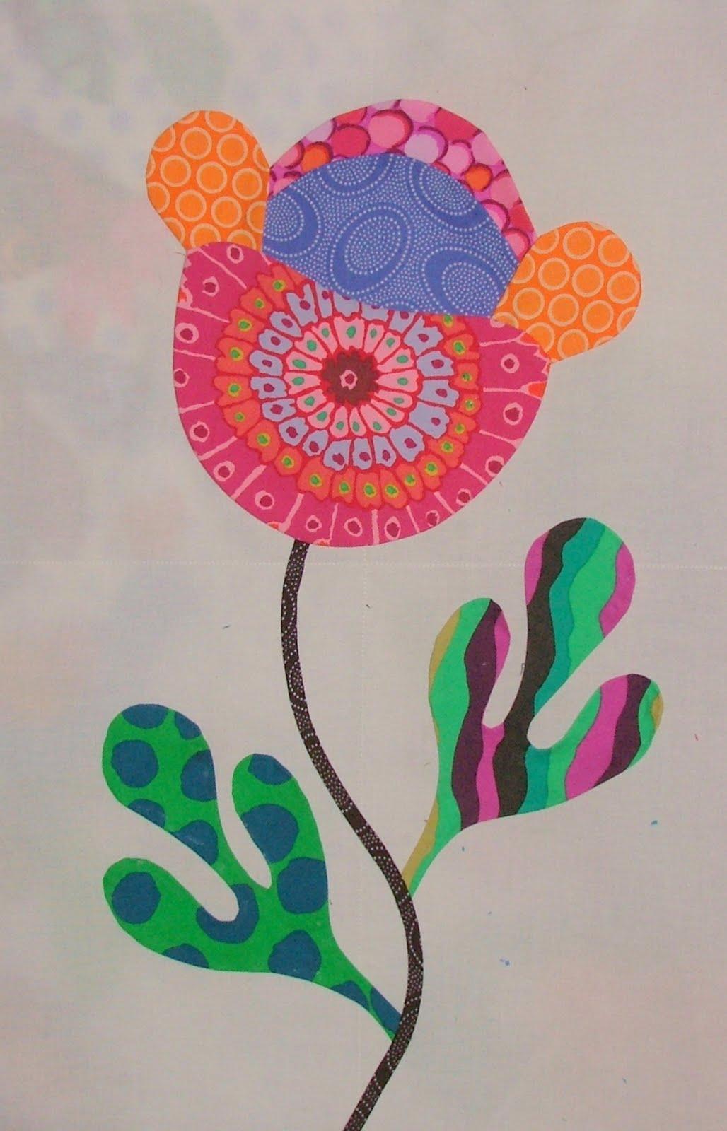 Детские аппликации цветы фото